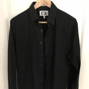Express button down black dress shirt
